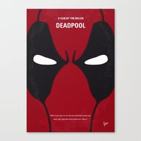 No639 My DeadP minimal movie poster Canvas Print