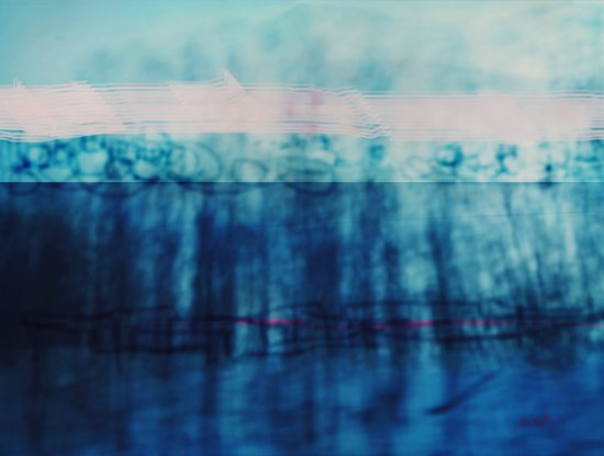 Abstract ~ Blue Landscape Art Print
