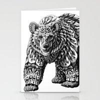 Ornate Bear Stationery Cards