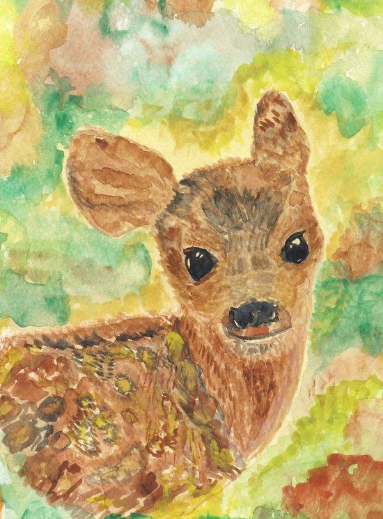 baby deer - fawn Art Print