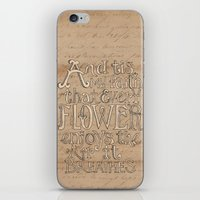 A Flower Breathes iPhone & iPod Skin
