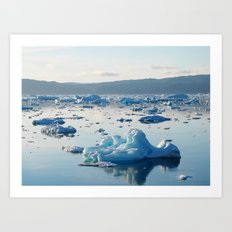 Iceberg Bay Art Print