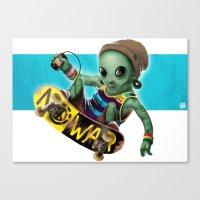 Area 51 Skate Park Canvas Print