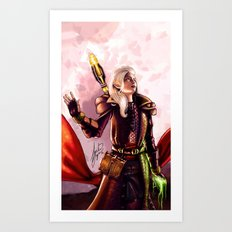 Dragon Age Inquisition - Aspen the elvish mage Art Print