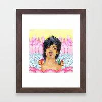 Crystals & Prince Framed Art Print