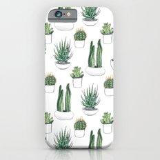 watercolour cacti and succulent Slim Case iPhone 6s