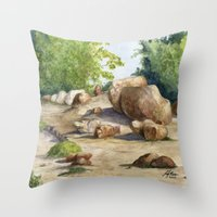 A Walk In The Arboretum Throw Pillow