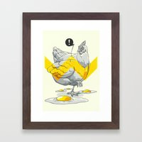 Chicken In The Kitchen Framed Art Print