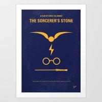 No101-1 My HP - SORCERERS STONE minimal movie poster Art Print