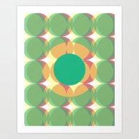 Circle colours  Art Print