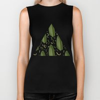 Marching leaves Biker Tank