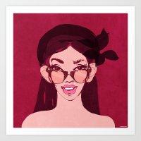 Selfie Girl_11 Art Print