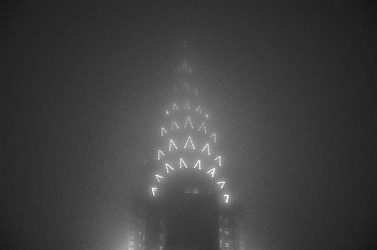 Chrysler Building Fog Noir Art Print