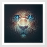 Red Tiger Art Print