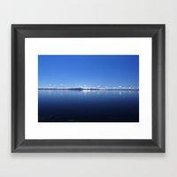 Blue Yellowstone Lake An… Framed Art Print