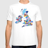 England, Ireland, Scotland & Wales Mens Fitted Tee White SMALL