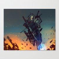 Heavy Fire Canvas Print