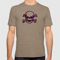 Skully 3D Mens Fitted Tee Tri-Coffee SMALL
