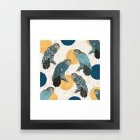 Night Owl Polka Framed Art Print