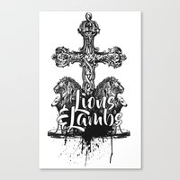 Of Lions & Lambs Canvas Print