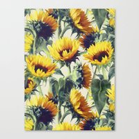 Canvas Print featuring Sunflowers Forever by micklyn