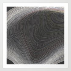 Layers Grey Art Print