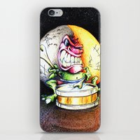 Green Drummer Crazy Mask iPhone & iPod Skin