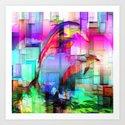 Dolphins Tim Henderson Art Print