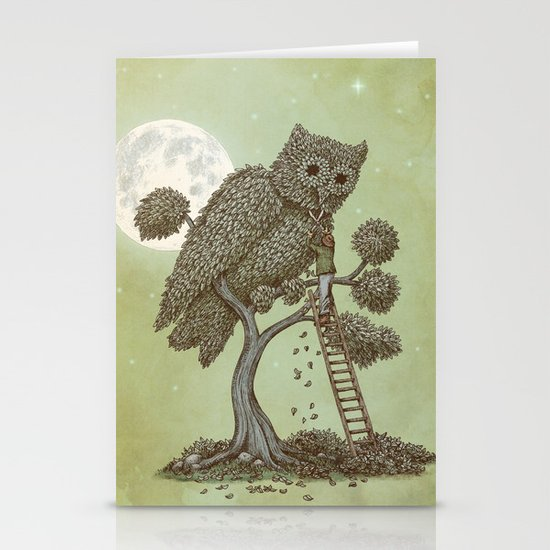 The Night Gardener (Colour Option) Stationery Card