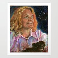 Annie, Maddie, and The Dog Star Art Print