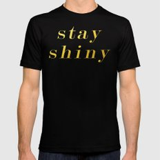 Shiny Mens Fitted Tee Black SMALL