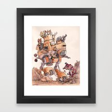 The Big Bad Mega Mech Framed Art Print