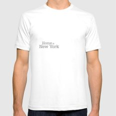 New York Is Home - Home … Mens Fitted Tee White SMALL