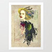 Retro Woman Art Print