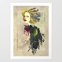 Retro Woman Art Print
