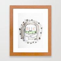 Little Bear Wishes Framed Art Print