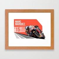 Marc Marquez - 2015 Aust… Framed Art Print
