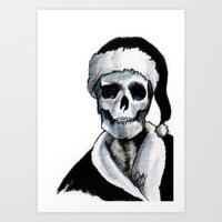 Blackest Ever Black Xmas Art Print
