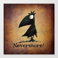 Nevermore! The Raven - Edgar Allen Poe Canvas Print