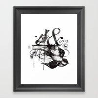 Amore & Love Framed Art Print