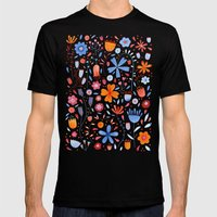 English Meadow Mens Fitted Tee Black SMALL