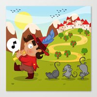 The Pied Piper of Hamelin  Canvas Print