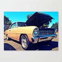 Canvas Print featuring Classic Chevy Nova by Vorona Photography