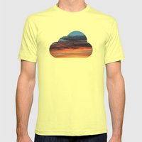 CLOUDS Mens Fitted Tee Lemon SMALL