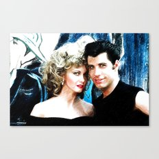 Sandy and Danny from Grease - Painting Style Canvas Print