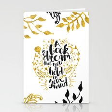 A Book Is A Dream Gold F… Stationery Cards