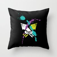 Splatoon - Turf Wars 3 Throw Pillow