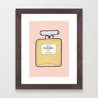 Perfume Number 5 Framed Art Print
