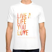 Life You Love Mens Fitted Tee White SMALL