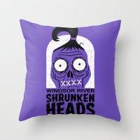 Shrunken Heads Throw Pillow